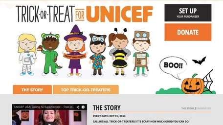 Trick-or-Treat for UNICEF Crowdrise.