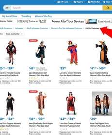 A screenshot of Wal-Mart's website shows a section