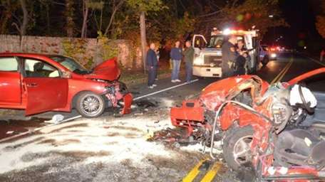 Two injured drivers were taken to local hospitals