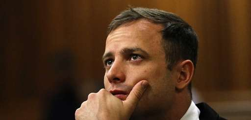 South African paralympic athlete Oscar Pistorius waiting before