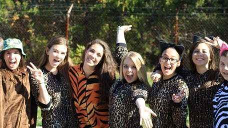 Connetquot High School students wore Broadway-themed costumes —