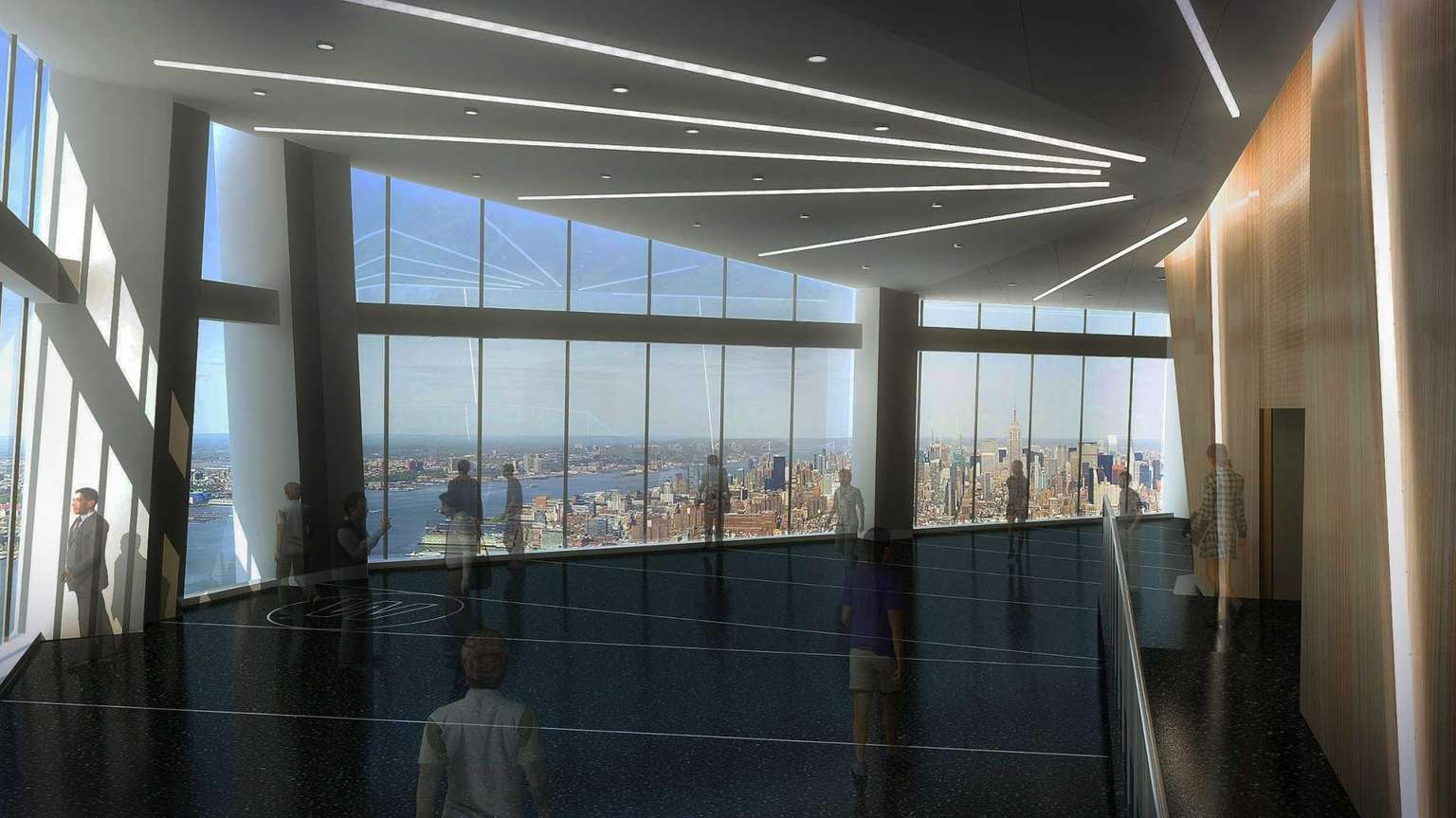 Taking in the view at One World Observatory