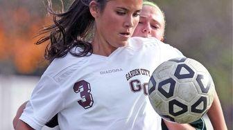 Garden City's Lauren Miesemer, who scored the second