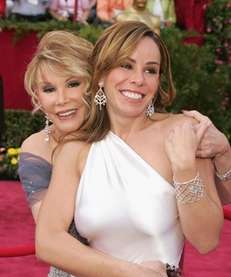 Joan Rivers and her daughter, Melissa, attend the