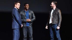 Chris Evans, Robert Downey Jr. and Chadwick Boseman