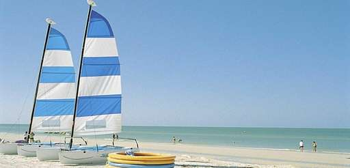 Sailing is a popular pastime on Marco Island,