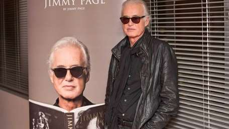 British music legend Jimmy Page, founder of hard
