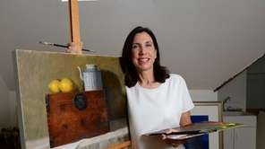 Renowned watercolor artist Barbara Ernst Prey works in