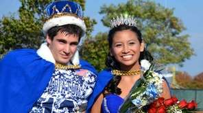 New Hyde Park High School homecoming king Thomas