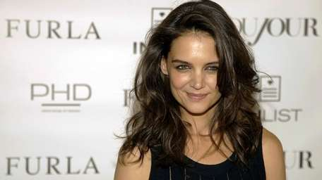 Katie Holmes attends DuJour magazine's cover party on