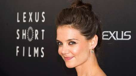 Katie Holmes attends the premiere of Lexus Short
