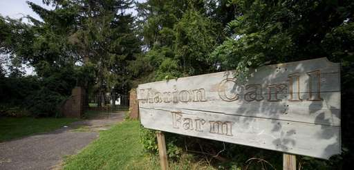 The gate to the Marion Carll Farm in