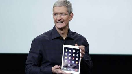 Apple CEO Tim Cook introduces the Apple iPad