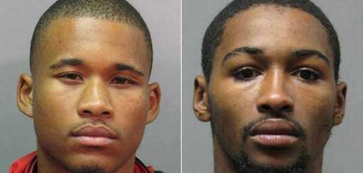 Justin Artis, 20, left, and Rayshawn Littlepage, 24,