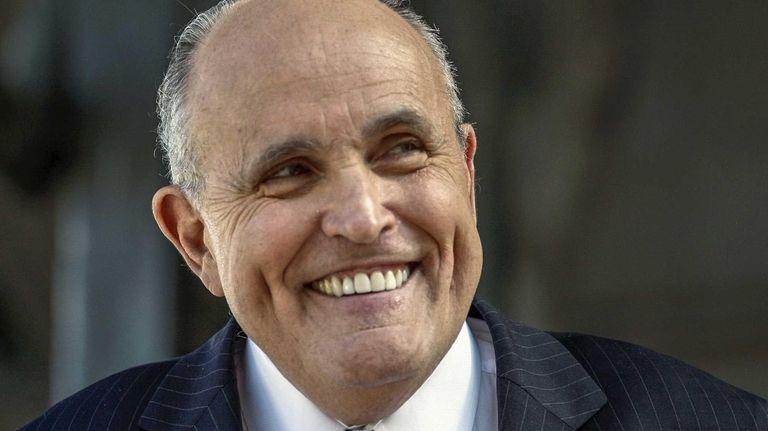 Former New York City Mayor Rudy Giuliani Thursday