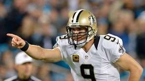 Drew Brees of the New Orleans Saints calls