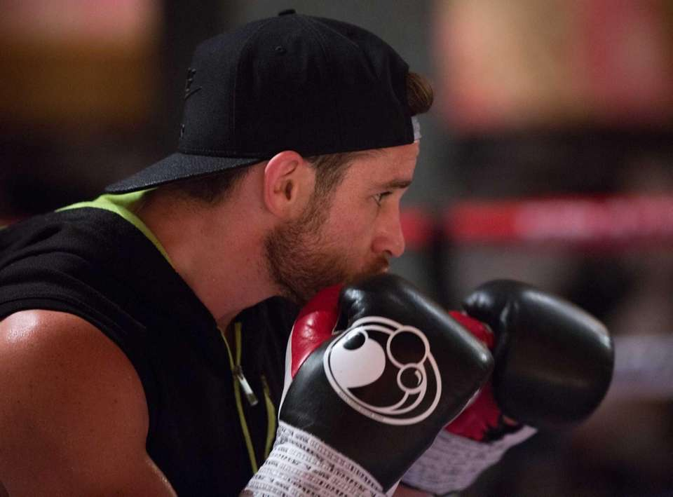 Chris Algieri at his training camp in the