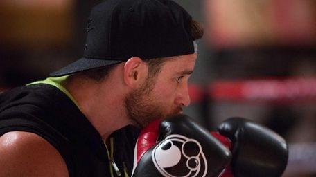 Chris Algieri at his training camp in the
