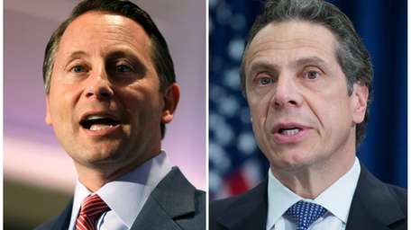 Democratic Gov. Andrew M. Cuomo has a sizeable