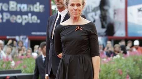 Frances McDormand, left, with husband Joel Coen,