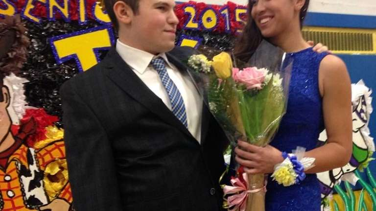 Max Hechtman and Ashley Halkitis, East Meadow's homecoming