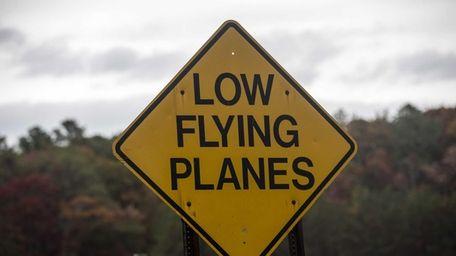 The East Hampton Airport signage, Saturday, Nov. 1,