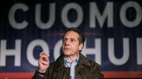 New York Gov. Andrew M. Cuomo speaks at