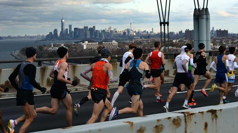 Runners compete in the New York City Marathon