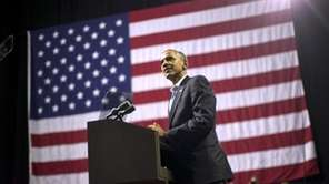 President Barack Obama speaks during a campaign event