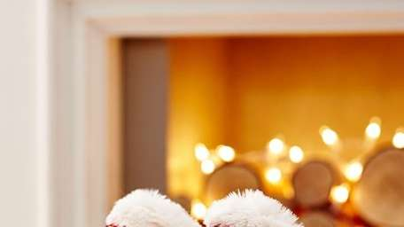 These furry slippers up the glam factor with