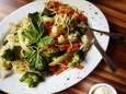 Pasta primavera with a fresh assortment of vegetables