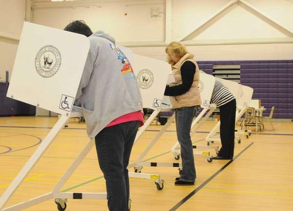 Voters turnout to cast their ballots Tuesday morning,