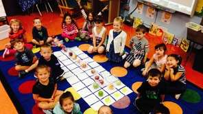 Kindergarten students at Forest Lake Elementary School in