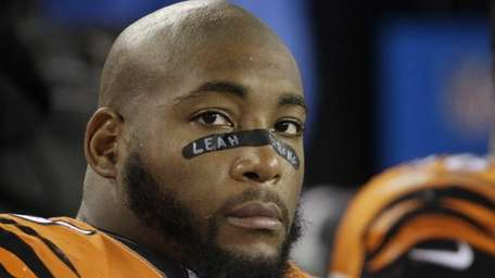 Cincinnati Bengals defensive tackle Devon Still watches the