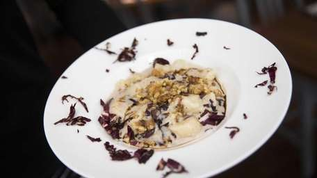 Airy potato gnocchi with Gorgonzola cheese, radicchio, walnuts