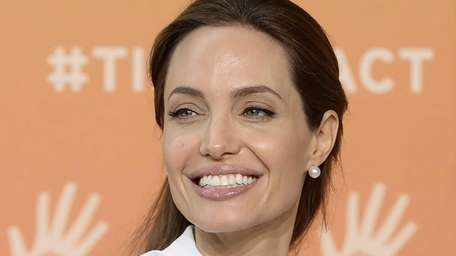 Actress Angelina Jolie arrives at the Global Summit