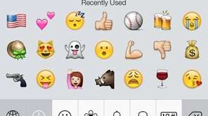 Some examples of currently available emoji.