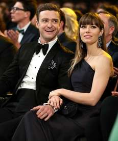 Justin Timberlake and Jessica Biel attend the 55th