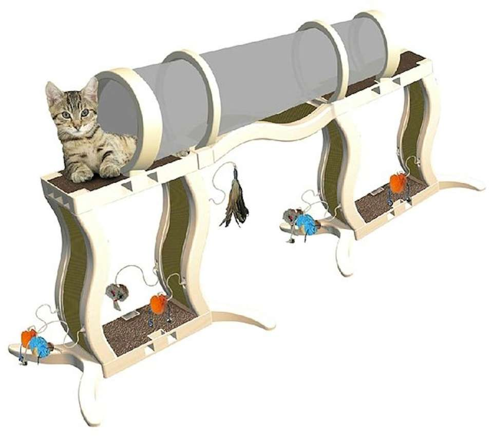Your kitten will love climbing along this Deluxe