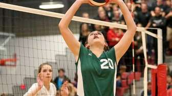 Westhampton Beach's Shea Casey sets the play in