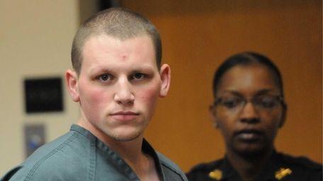 Adam Saalfield, 21, of Huntington Station, awaiting to