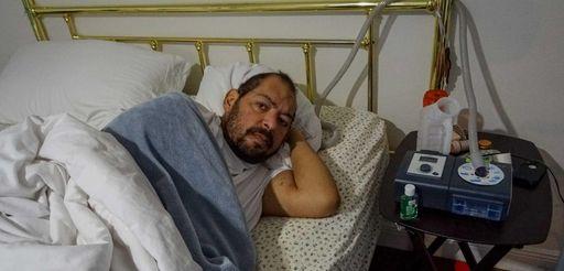 Yuri Sucart, Alex Rodriguez's cousin, lies in bed