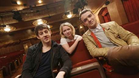From left, Alex Sharp, Tavi Gevinson and Micah