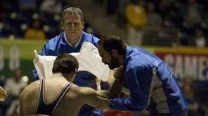 "Steve Carell and Channing Tatum star in ""Foxcatcher."""