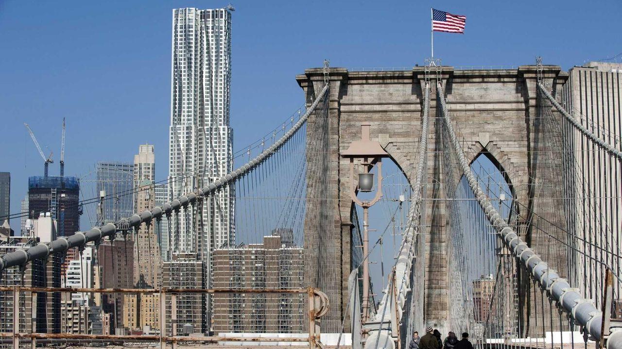 The Brooklyn Bridge is shown in a 2011