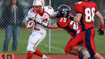 East Islip RB Eric Flynn gets knocked out