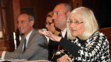 North Hempstead Supervisor Judi Bosworth answers questions on
