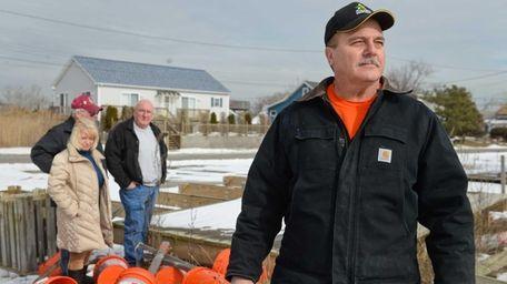 Mayor Bill Biondi is shown in Mastic Beach