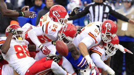 Buffalo Bills wide receiver Marquise Goodwin, center bottom,