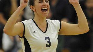 Massapequa's Alexandra Dillon reacts after team team picked